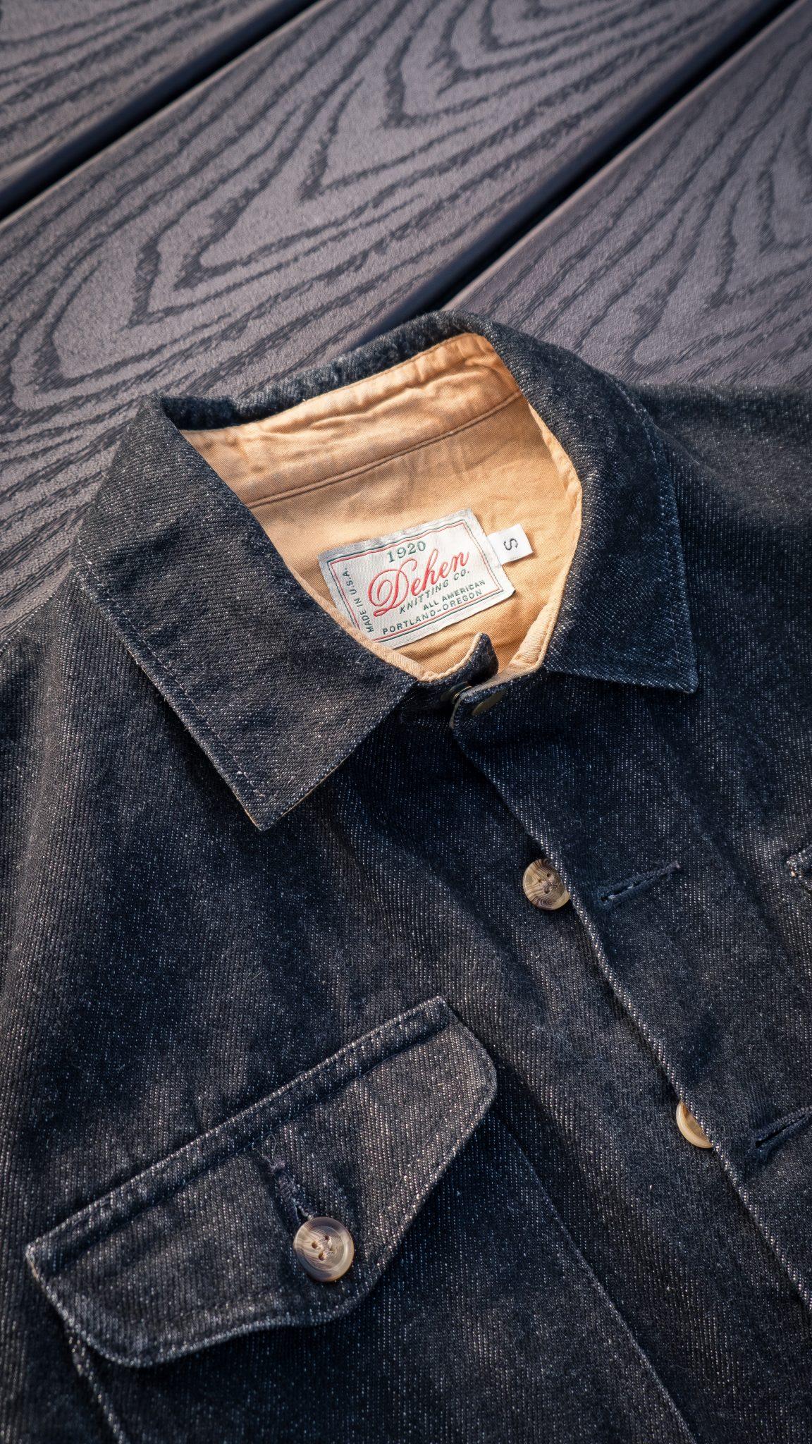 Dehen Black Denim Crissman Overshirt 14 oz fabric