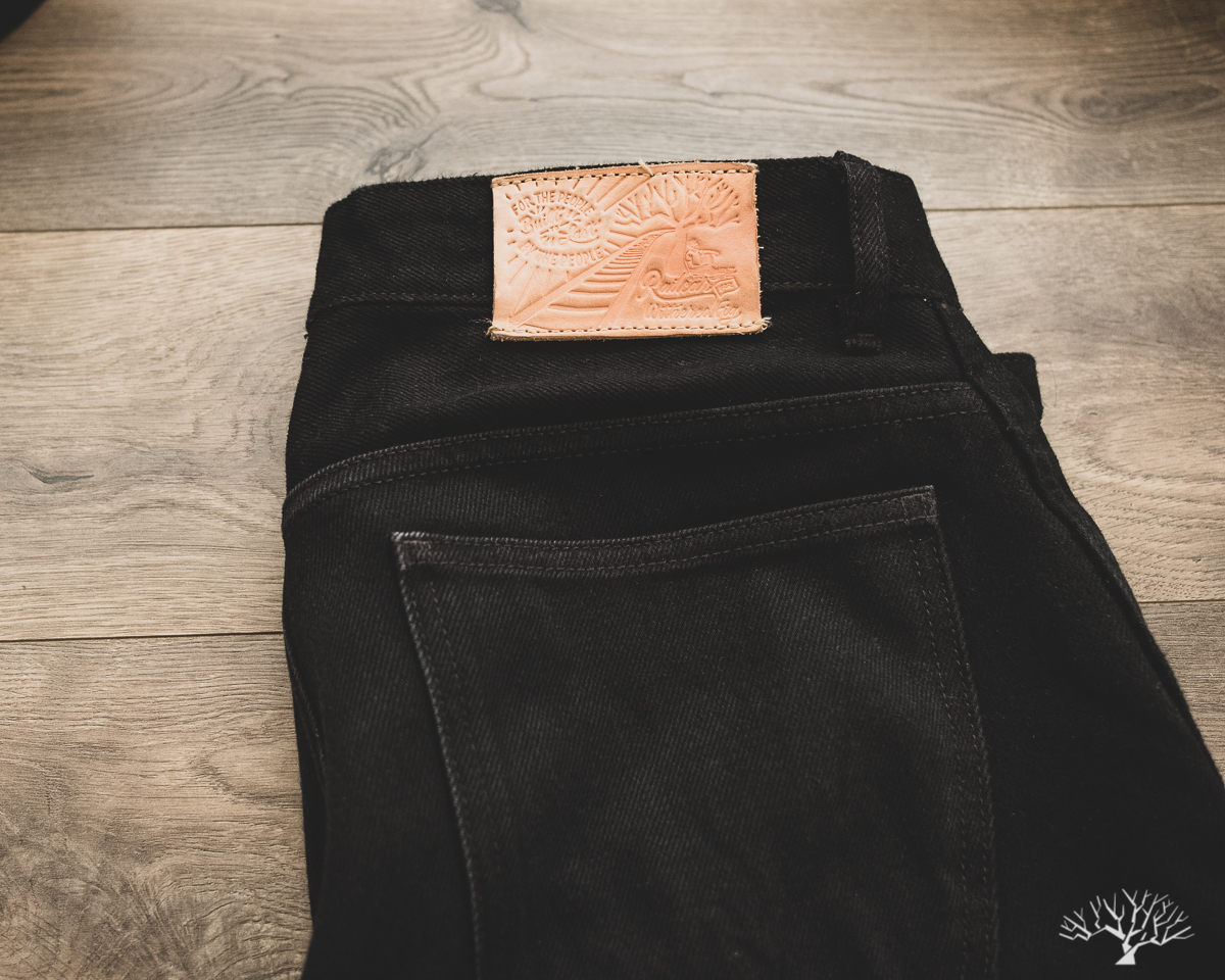 Railcar for Withered Fig Double Black denim Flight Trousers